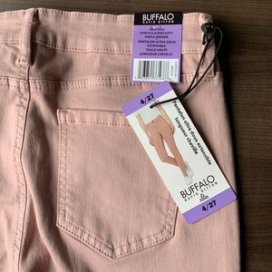 Buffalo David Bitton pink Aubrey high rise jeans